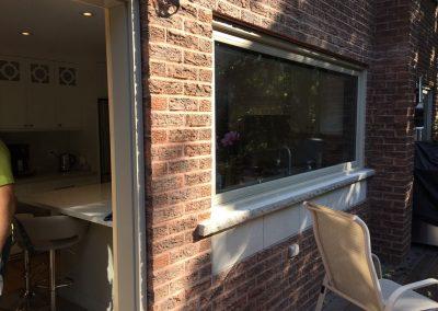 Inside wood window